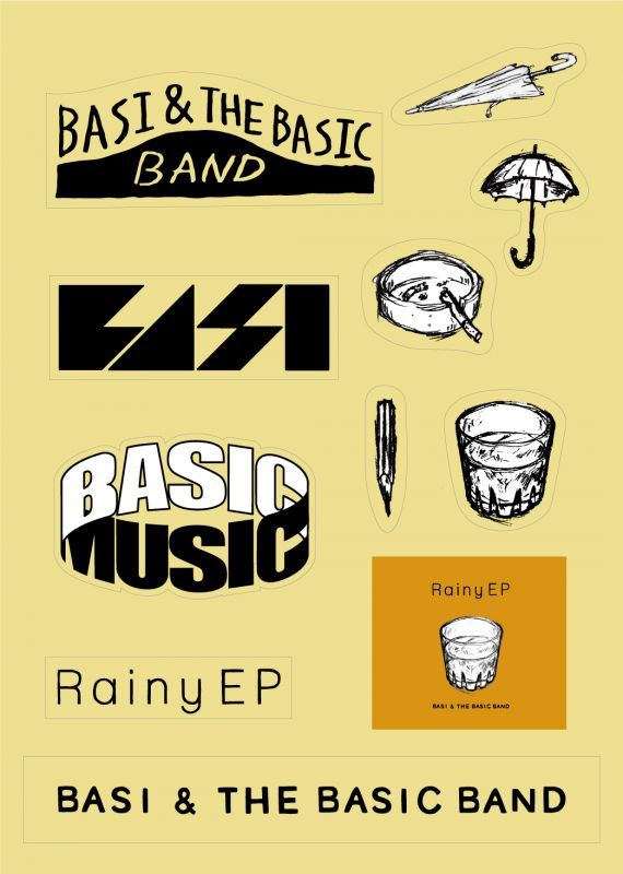 rainy sticker sheet basic music